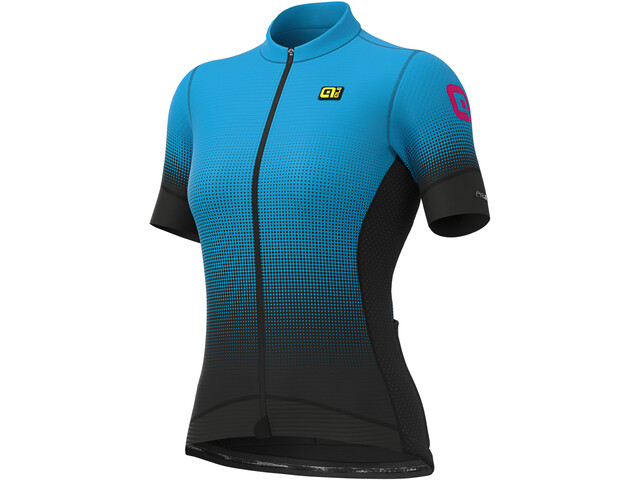 Alé Cycling PRS Dots Jersey korte mouwen Dames, black/light blue